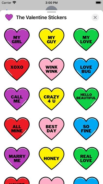 The Valentine Stickers