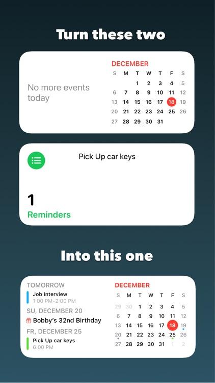 Onward: Calendar and Reminders