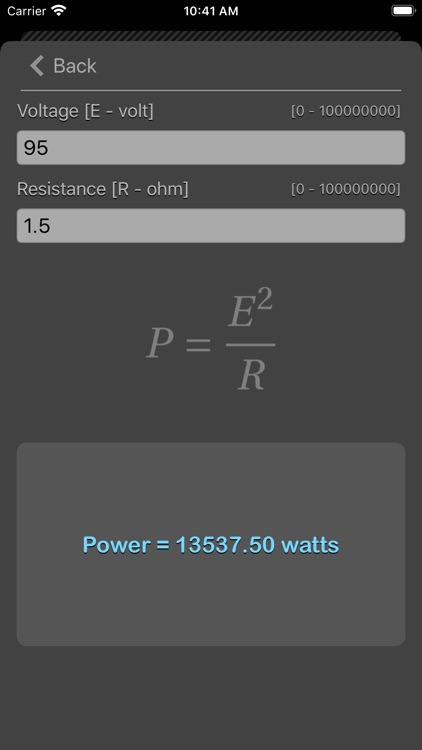 Ohm Law Calculator screenshot-7