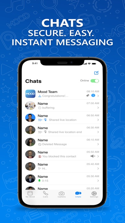 MOOD go video calls and chat