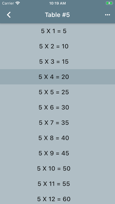 Audible Math Tables Pro screenshot 2