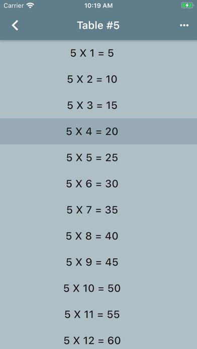 Audible Math Tables Pro screenshot 2