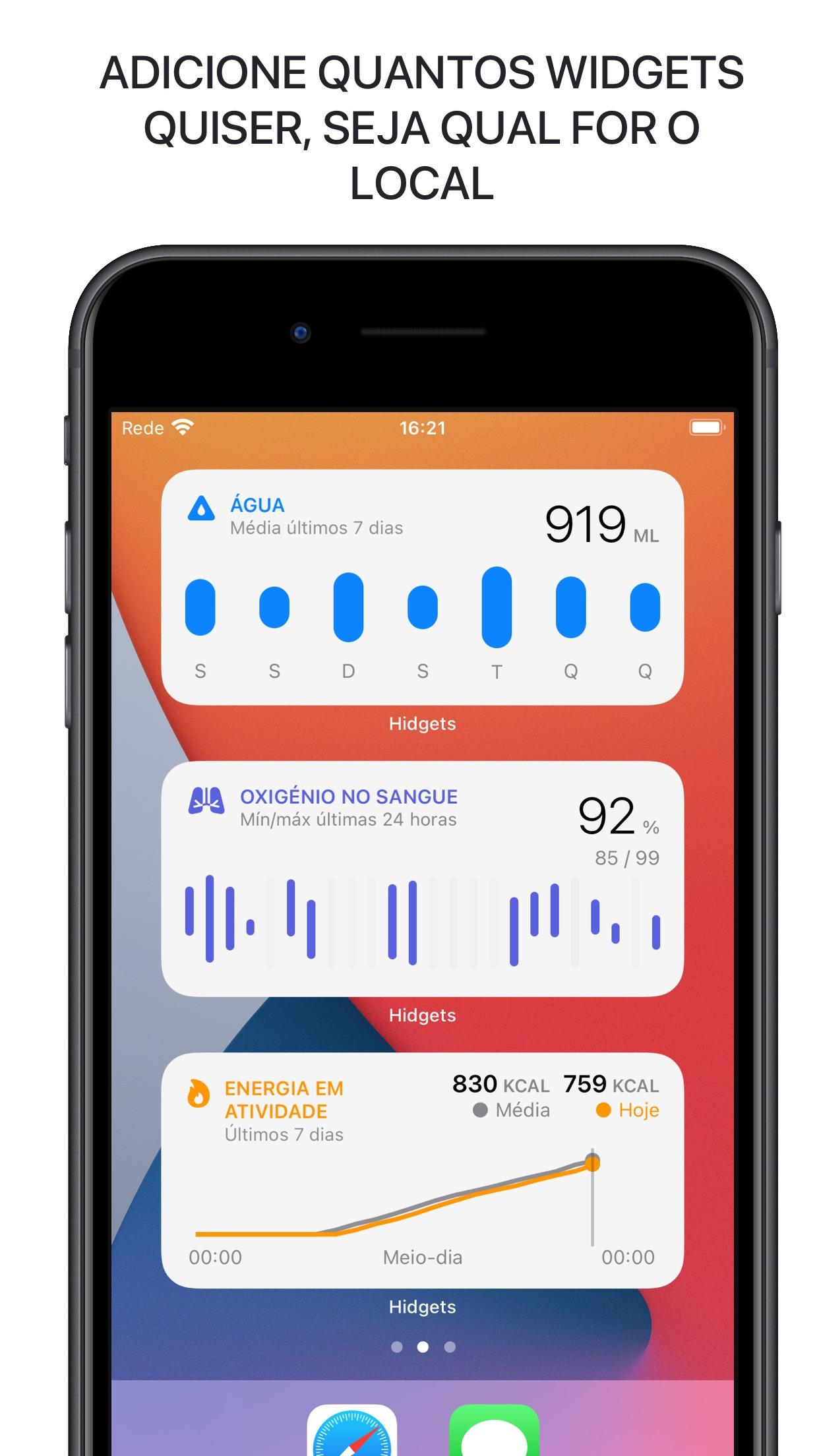 Screenshot do app Hidgets