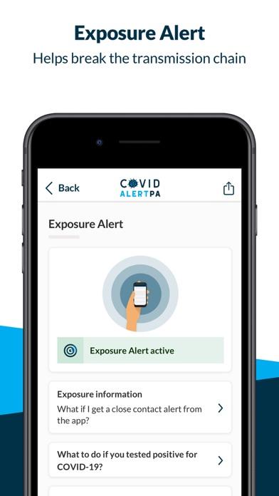 COVID Alert PennsylvaniaScreenshot of 3