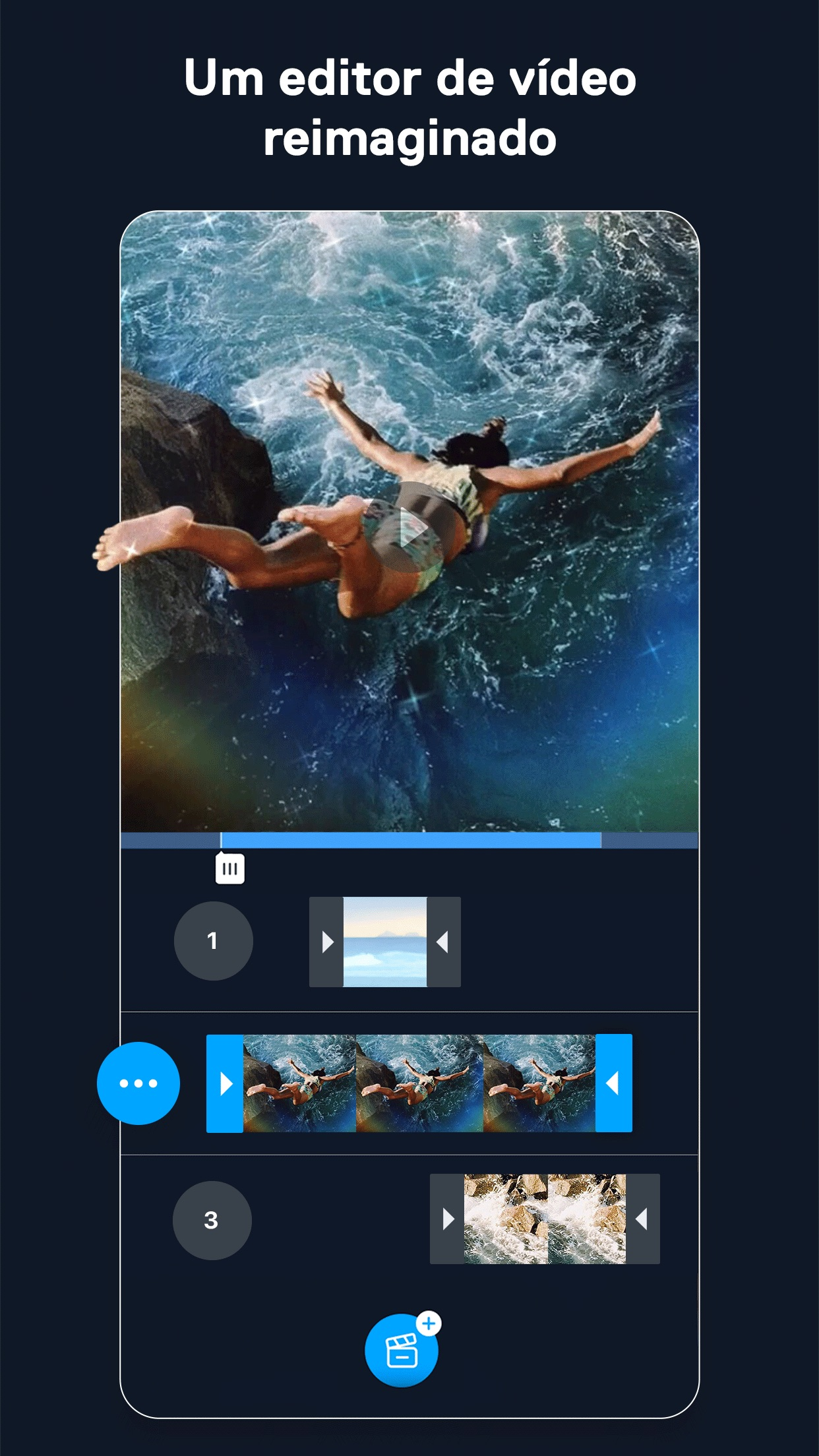 Screenshot do app Filmr: Editor de Vídeo e Fotos