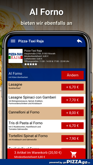 Pizza-Taxi Raja Rösrath screenshot 6