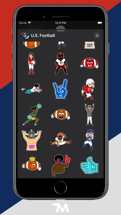 U.S. Football Stickers
