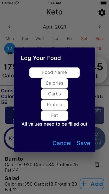 Macro & Keto Diets Calculator
