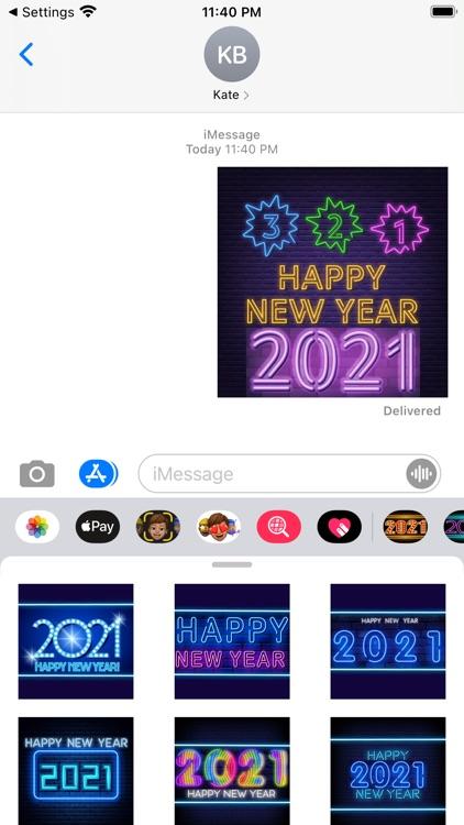 2021 New Year Sticker Pack
