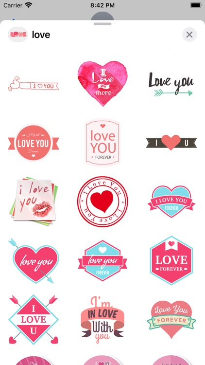"""""""Love"""" - Stickers for iMessage screenshot-8"""