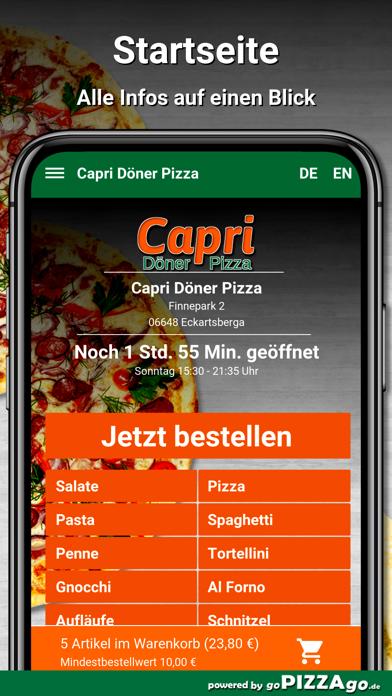 Capri Pizza Eckartsberga screenshot 2