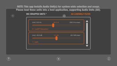 WU: AULowShelfFilter screenshot 4