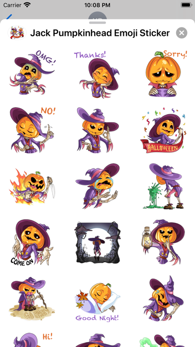 Jack Pumpkinhead Emoji Sticker screenshot 4