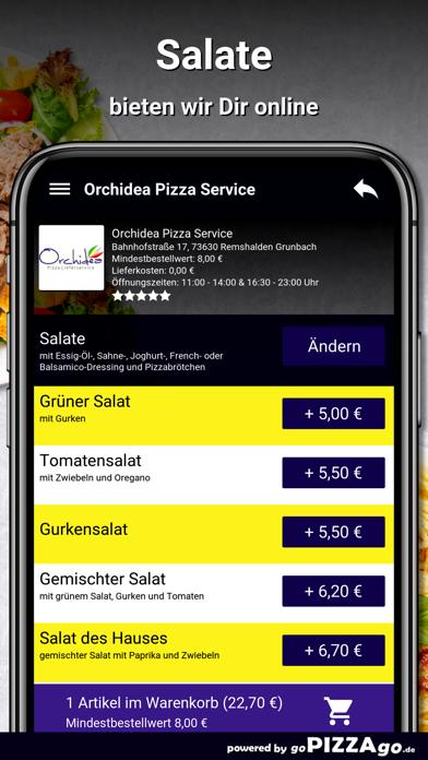 Orchidea Pizza Remshalden screenshot 5