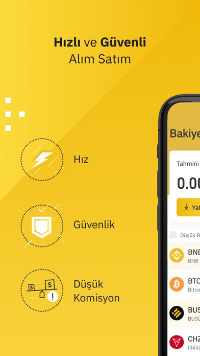 Binance TR   Bitcoin Al & Sat iphone ekran görüntüleri