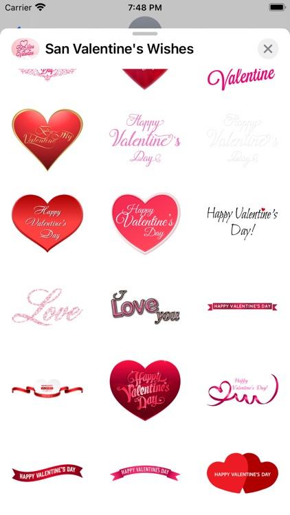 San Valentine's Wishes Sticker screenshot-3
