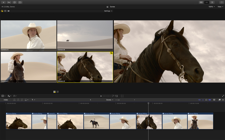 Screenshot do app Final Cut Pro