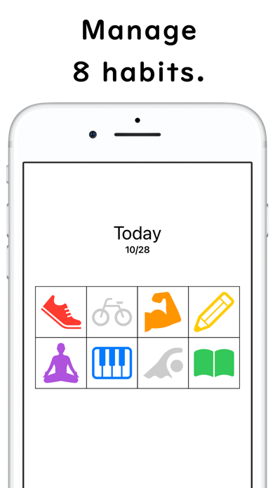 Gewohnheitskalender: Habit8Screenshot von 2