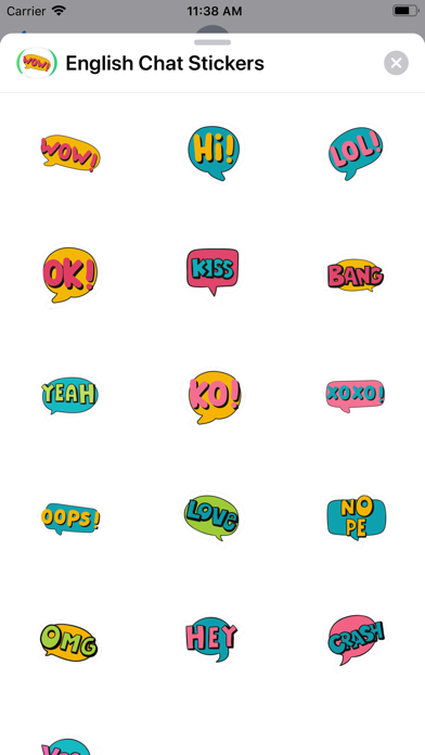 English Chat Stickers screenshot 1