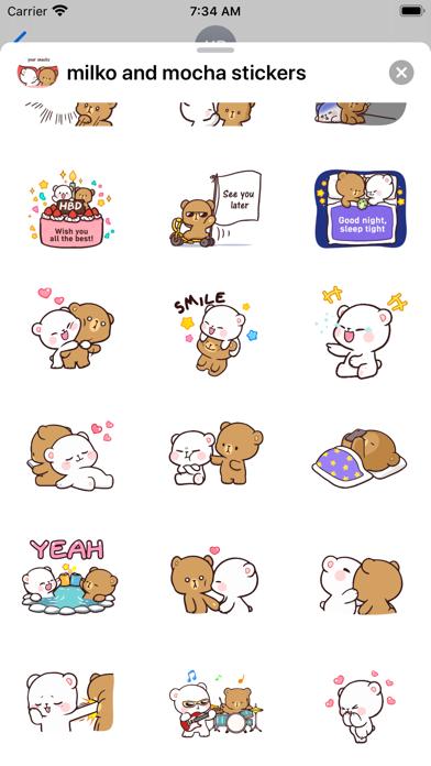 New Milk & Mocha Stickers 2020 Screenshot