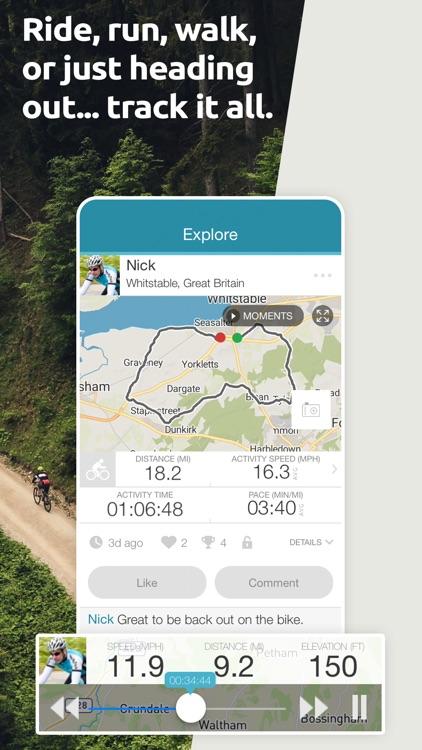Map My Tracks: ride run walk