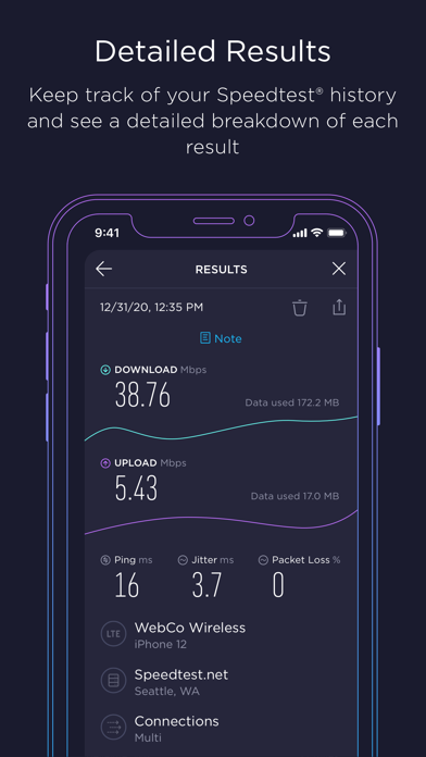 messages.download Speedtest by Ookla software