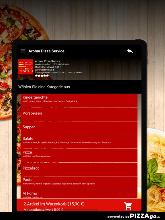 Aroma Pizza Service Fellbach screenshot 8