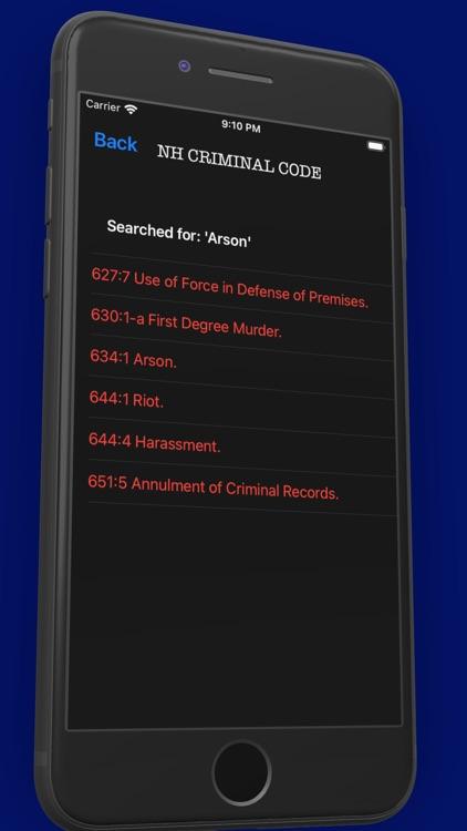 NH Criminal & Vehicle Code screenshot-5