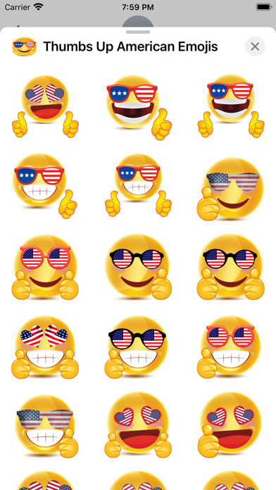 Thumbs Up American Emojis screenshot 3