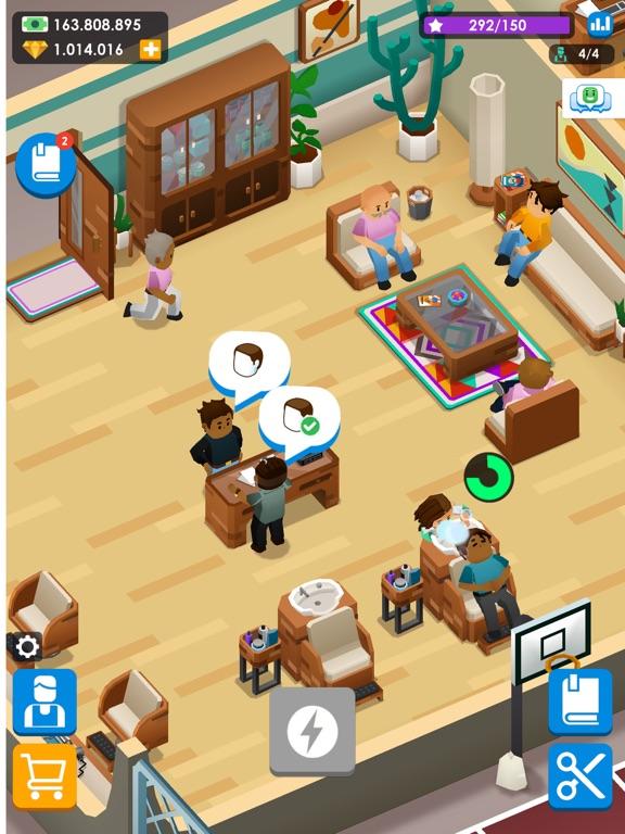 Idle Barber Shop Tycoon - Game iPad app afbeelding 6