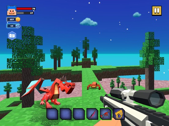 Fire Craft: 3D Pixel World screenshot 7
