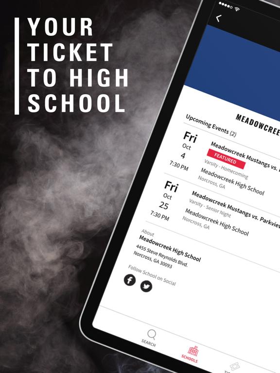 iPad Image of GoFan – High School Tickets