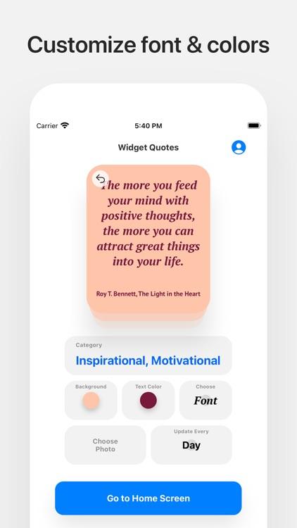 Widget Quotes screenshot-3