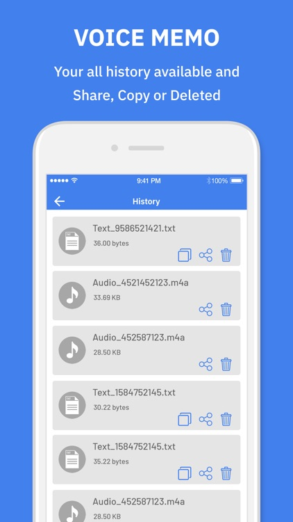 Voice Memo : Text To Speech screenshot-4