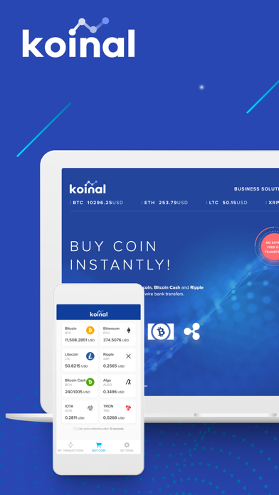Koinal: Buy Bitcoin instantlyのスクリーンショット1