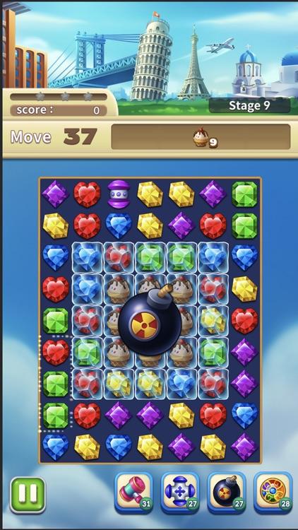 Jewels World Match 3 Puzzle screenshot-4