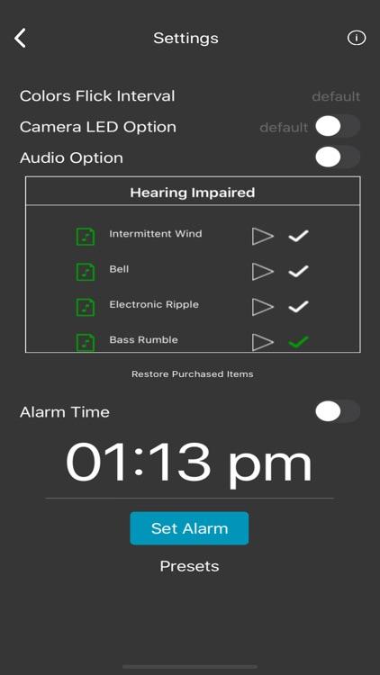 Light Awake Hearing Impaired