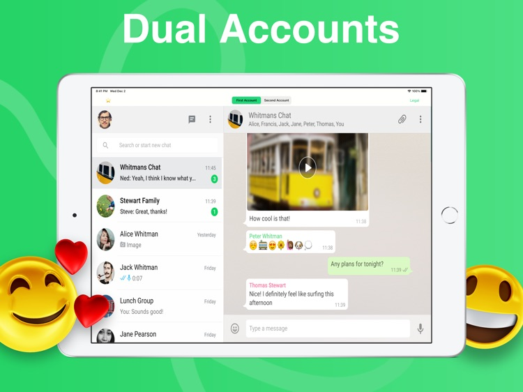 Dual Whats Web App for iPad
