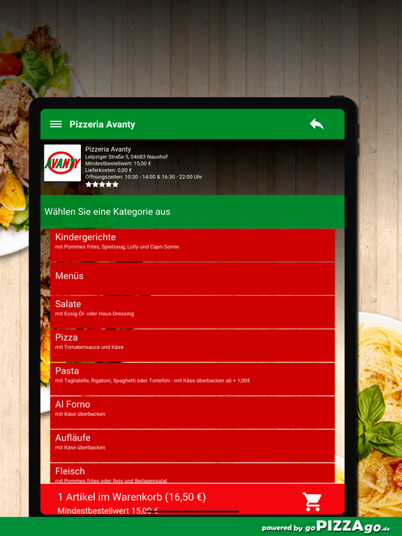 Pizzeria Avanty Naunhof screenshot 8