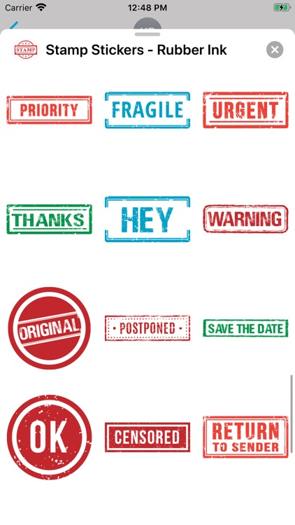 Stamp Stickers - Rubber Ink screenshot-7