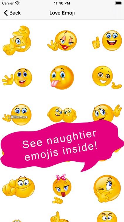 Flirty Emoji Adult Stickers