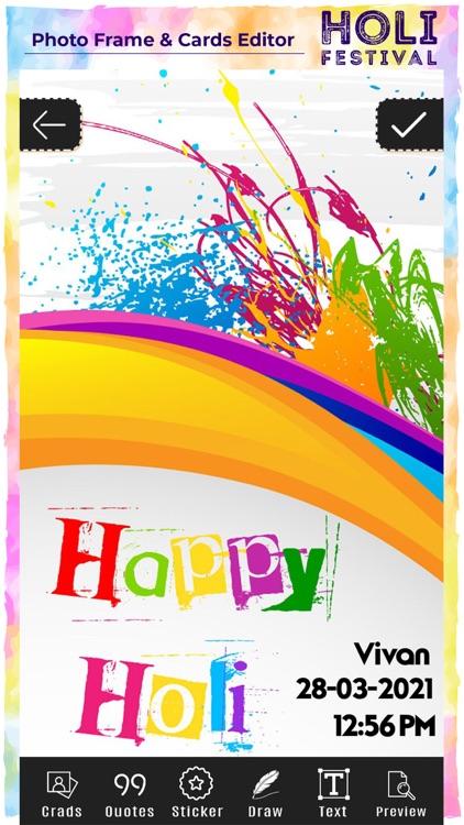 Holi Photo Frame & Card Editor