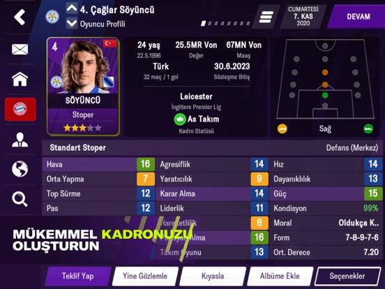 Football Manager 2021 Mobile ipad ekran görüntüleri