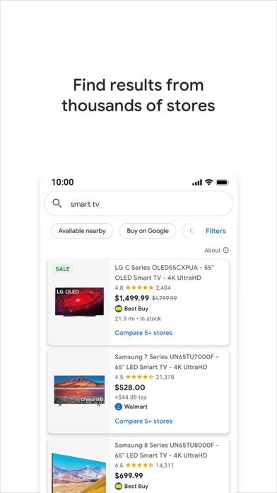 Google Shopping Screenshot