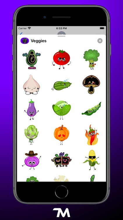 Veggies: Food Stickers