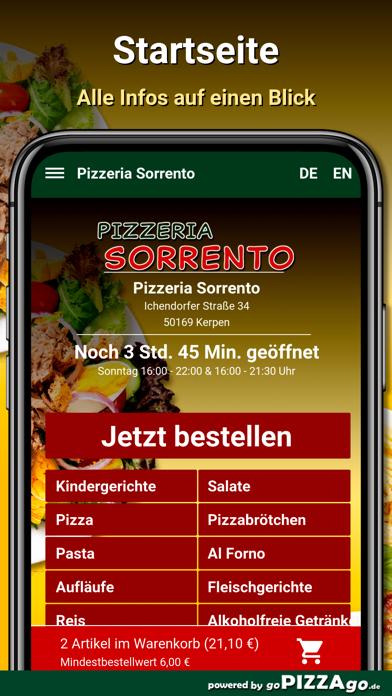 Pizzeria Sorrento Kerpen screenshot 2
