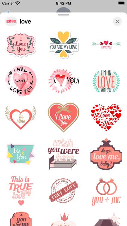 """""""Love"""" - Stickers for iMessage screenshot-6"""