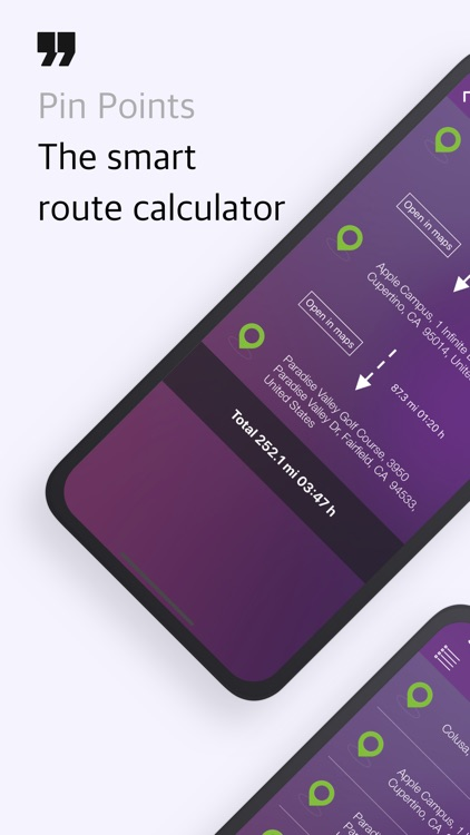 Pin Points Distance Calculator