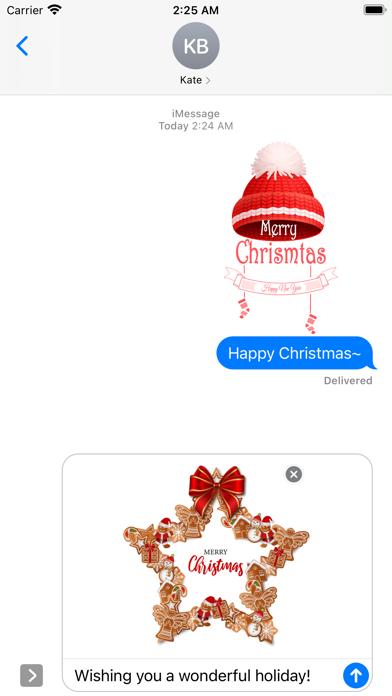 Realistic Christmas Stickers screenshot 2