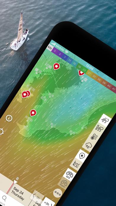 Windfinder: 風と天気の予測マップのおすすめ画像2